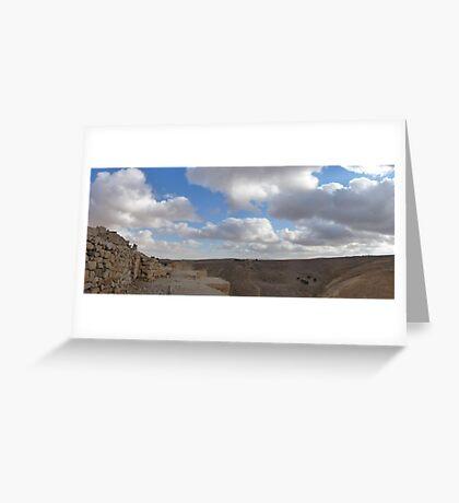Ash Shubak Castle Jordan Greeting Card