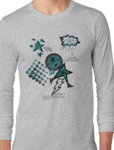 Friends Laughter & Tears-Teal Long Sleeve T-Shirt