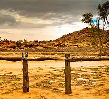 Approaching thunderstorms at the Telegraph Station - Alice Springs by Geoffrey Thomas