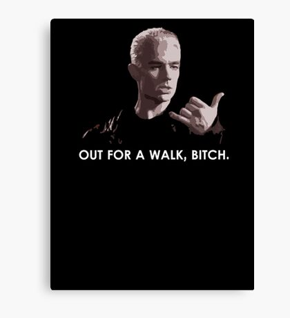 Spike, out for a walk - light font (TANK/SCOOP TOP) Canvas Print