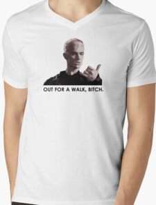 Spike, out for a walk - dark font (TANK/SCOOP TOP) Mens V-Neck T-Shirt