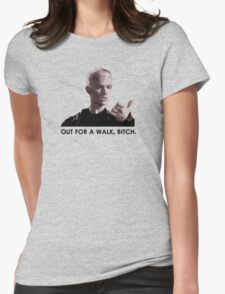 Spike, out for a walk - dark font (TANK/SCOOP TOP) Womens Fitted T-Shirt