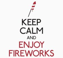 Keep calm and enjoy fireworks Kids Clothes