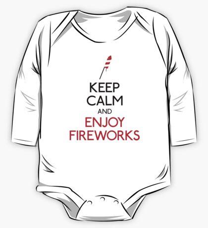 Keep calm and enjoy fireworks One Piece - Long Sleeve