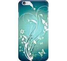 The Butterfly Garden Blue iPhone Case/Skin