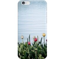 tulips by the water iPhone Case/Skin