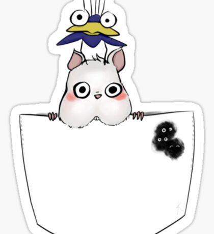 Pocket Boh and bird Sticker