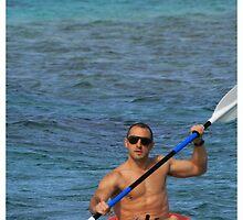 Dave kayaking, Cook Islands by David Sarkin