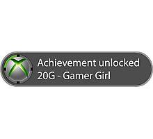 Achievement Unlocked - 20G Gamer Girl Photographic Print