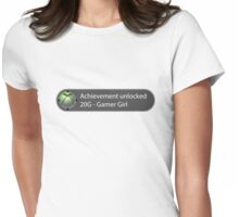 Achievement Unlocked - 20G Gamer Girl Womens Fitted T-Shirt