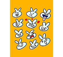 Bad Bunny - Faces Photographic Print