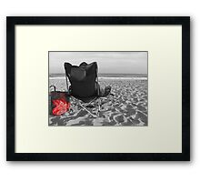 His idea of the perfect vacation Framed Print