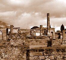 Pompeii in Sepia by Dana Roper