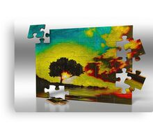 California Live Oak, Piece by Piece Canvas Print