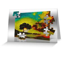 California Live Oak, Piece by Piece Greeting Card
