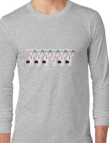 Start The Week With Stabbing Long Sleeve T-Shirt