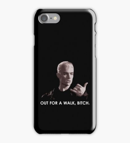 Spike, out for a walk - light font (TSHIRT) iPhone Case/Skin