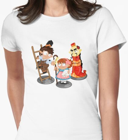 the shepherdess and the chimney sweep Womens Fitted T-Shirt