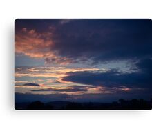 Autumn sunset in Canberra Canvas Print