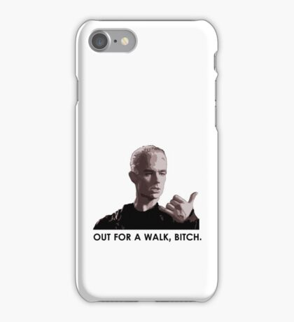 Spike, out for a walk - dark font (TSHIRT) iPhone Case/Skin