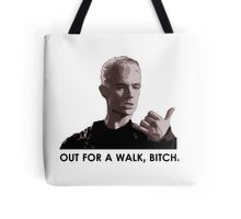 Spike, out for a walk - dark font (TSHIRT) Tote Bag
