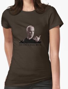 Spike, out for a walk - dark font (TSHIRT) Womens Fitted T-Shirt