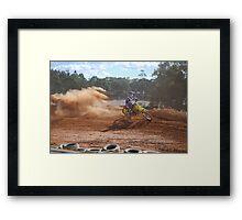 Dirt Bike Riding Framed Print