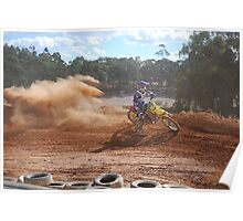Dirt Bike Riding Poster