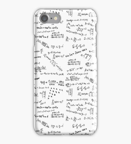 Math Formulas And Numbers iPhone Case/Skin