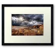 Cloudy with a Chance of Sun Framed Print