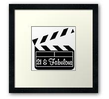 21 YR OLD MOVIE STAR Framed Print