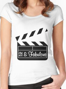 21 YR OLD MOVIE STAR Women's Fitted Scoop T-Shirt