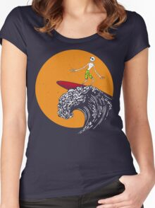 Surfing Before Christmas Women's Fitted Scoop T-Shirt