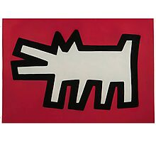 Keith Haring Dog Photographic Print
