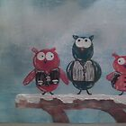 Bad Boys Owls by Erin DuFrane-Woods