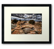 In the Cliffs Framed Print