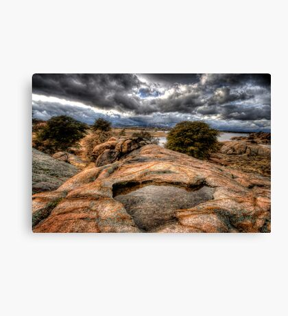 In the Cliffs Canvas Print