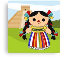 Maria 2 (Mexican Doll) Canvas Print