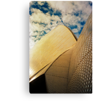Opera House and stippled sky #1 Canvas Print