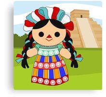 Maria 6 (Mexican Doll) Canvas Print