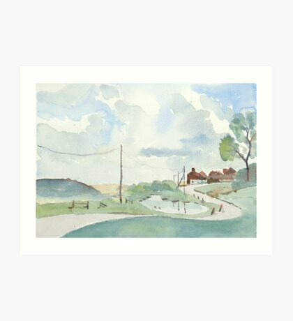 Norfolk Coast at Salthouse, by Nick Clark Art Print