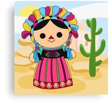 Maria 3 (Mexican Doll) Canvas Print