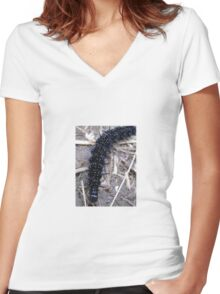 Micro Fur Women's Fitted V-Neck T-Shirt