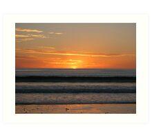 Silver Sands Sunset Art Print