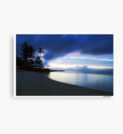 Tranquil island evening Canvas Print