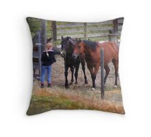 Here Guys, Grass from the Other Side... Throw Pillow