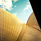 Opera House and stippled sky #2 by Juilee  Pryor