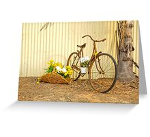 Really Rustic Old Bicycle..... Greeting Card