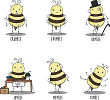 Bumble Bees by PixieCrop