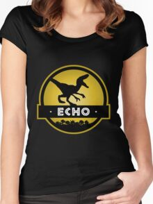 Velociraptor Echo Squad Women's Fitted Scoop T-Shirt